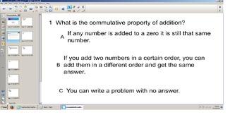 Math Commutative and Identity Property, grade 3 senteo smart board quiz