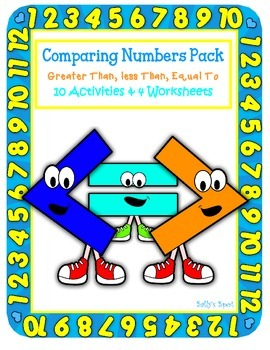 Math Comparing Numbers Pack Greater Than, Less Than, Equal To
