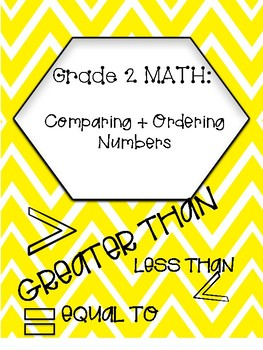 Greater than, Less than, Equal to (comparing and ordering numbers)