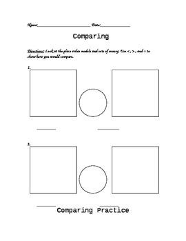Math Comparing Organizer