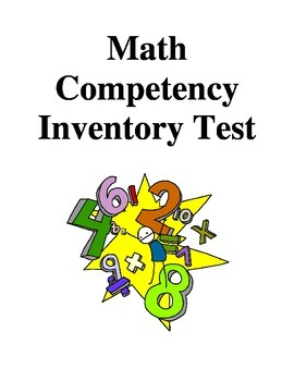 Math Competency Inventory Test - Grade 8