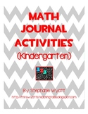 Math Composition Journals (Kindergarten)