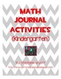 Math Composition Journals (Kindergarten)