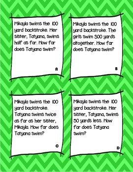 Math Comprehension Problems for Third Graders