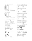 Math Comprehension Test