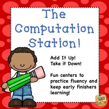 Math Computation - Addition and Subtraction Stations Grades K - 3