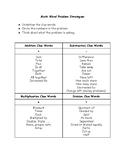 Math Computation Clue Words Basic Operations Word Problems
