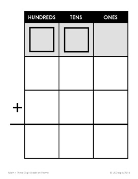 Math Computation Frames for All Four Operations
