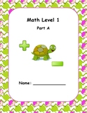 Math Computation Level 1 A