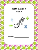 Math Computation Level 4 A