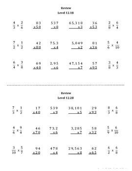 Math Computation Remediation Series: Multiplication Levels 9 - 12