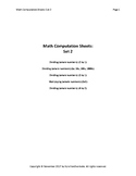 Math Computation Sheets - Set 2 - Division, Multiplication