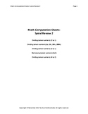 Math Computation Sheets - Spiral Review 2 - Divide, Multiply