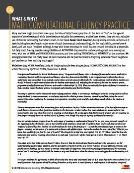 Math Computational Fluency Practice: What & Why?