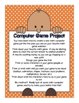 Math Computer Game Project for Early Finishers
