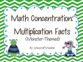 Math Concentration: Multiplication Facts to 144
