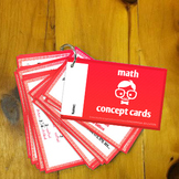FREE: Math Concept Cards for Upper Elementary (Grades 4, 5, 6, 7 and/or 8)