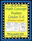 Math Concept Posters Grades 3-6