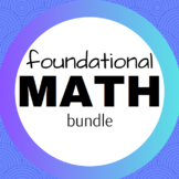 Math Concepts Foundational Bundle - ELL Dictionary, One Pagers & Logic Puzzles
