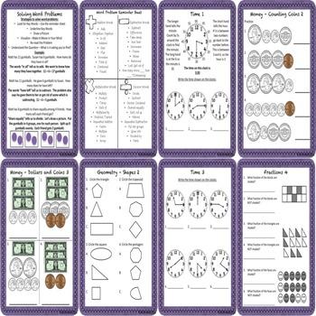 Math Concepts and Applications MCAP Practice Sheets Bundle Grades 2 and 3