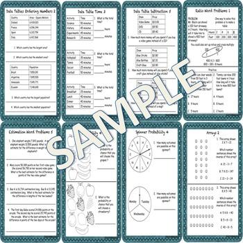 Math Concepts and Applications MCAP Practice Sheets Bundle Grades 3, 4, and 5