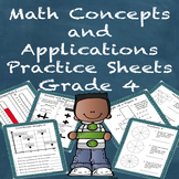 Special Education Math Concepts and Applications Practice Sheets Grade 4