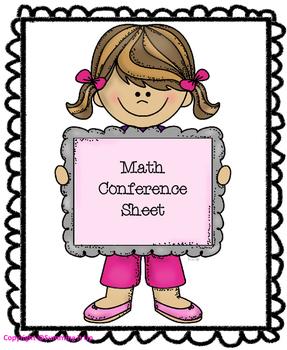 Math Conference Sheet