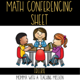 Math Conferencing Sheet