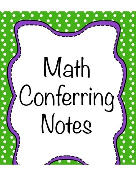 Math Conferring Notes Bundle