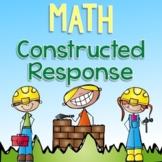 Math Constructed Response {Third Grade Edition}