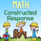 3rd Grade Math Constructed Response - Editable