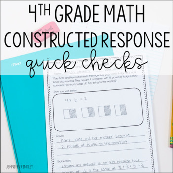 Math Constructed Response {4th Grade}