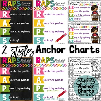 Back to School Math Anchor Charts for Constructed Response
