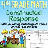 4th Grade Math Constructed Response - Editable