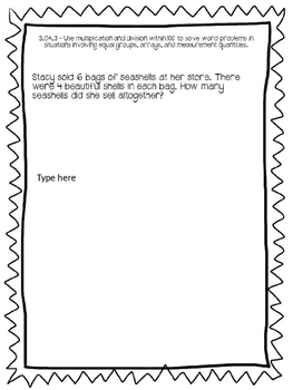 Math Constructed Response Journal - 3rd Grade