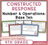 Math Constructed Response Word Problems: 4th Numbers/Opera