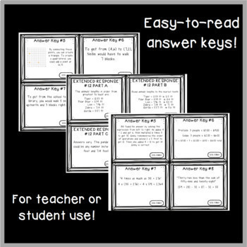 Common Core Constructed Response Problems - 5th Grade Fractions (NF)
