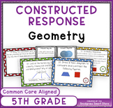 Common Core Constructed Response Problems - 5th Grade Geometry