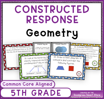 Math Constructed Response Word Problems: 5th Geometry (G)
