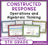 Math Constructed Response Word Problems: 5th Operations/Al