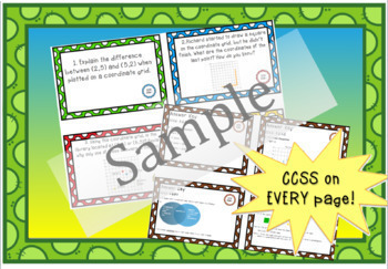 Constructed Response Task Cards - 5th Grade Geometry