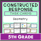 Math Constructed Response Task Cards: 5th Geometry (G)