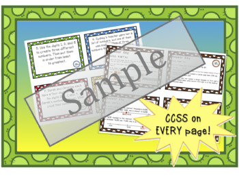 Constructed Response Task Cards - 4th Grade Number & Operations Base Ten (NBT)