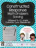Math Constructed Response Tasks 4th Grade {Operations & Algebra}