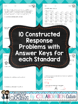 Math Constructed Response Tasks 4th Grade {Operations & Algebra}