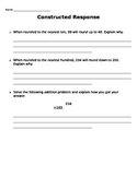 Math Constructed Response practice