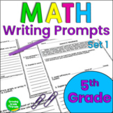 Math Journal Prompts and Constructed Responses Set 1