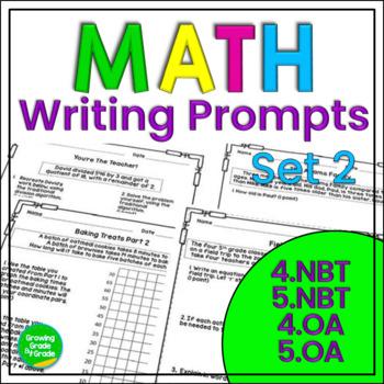 Math Journal Prompts 2