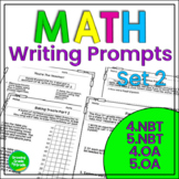 Math Journal Prompts: Constructed Responses Set 2