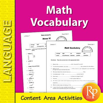 Math: Content Area Vocabulary Unit